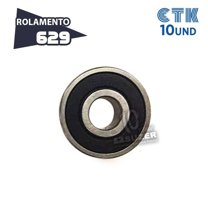 KIT 10 UNID - Rolamento 629 C3 - CTK