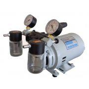 Bomba de Vácuo e Compressor de Ar, Isenta de Óleo, Potência do Motor 1/4HP, Bivolt