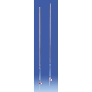 BURETA GRADUADA 25 ML RESISTENTE A 170ºC VIDRO BOROSILICATO REVESTIDA PLASTICO PMP/TPX TORNEIRA TEFLON PTFE