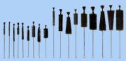ESCOVAS PARA USO COM TUBOS DE ENSAIO DE FUNDO CHATO Ø 15 X 120 MM, Ø 20 X 90 MM, Ø 25 X 125 MM E Ø 30 X 110 MM