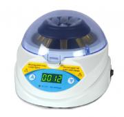 Mini Centrifuga digital, timer, velocidade fixa de 600 rpm equipada com 2 rotores 8x1,5/2,0ml e 16x0,2ml em tiras ou microtubos MODELO BIOMINI6K
