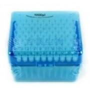 Ponteira universal com filtro, 100-1000µL, Rack com 100 unidades, transparente – Modelo: TF-1000-R-S