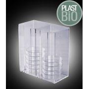 Suporte em Acrílico para Placas de Petri, Não Autoclavável - Modelo: HS-23452
