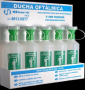 CONJUNTO DE 5 DUCHAS OFTÁLMICAS (500ML CADA) COM SUPORTE PARA FIXAR NA PAREDE MODELO D001-505