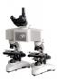 Microscópio para comparação de duas imagens simultâneas com alimento de 100x MOD. XJC100