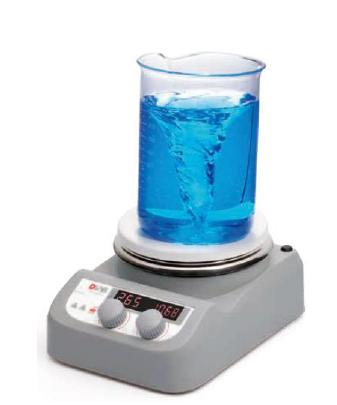 AGITADOR MAGNÉTICO COM AQUECIMENTO ATÉ 280°C, CAPACIDADE PARA AGITAÇÃO DE 3L E DISPLAY (VISOR) LED