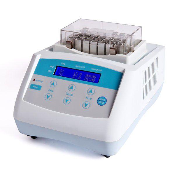 BANHO SECO DIGITAL AGITAÇÃO AQUEC./RESFRIA. 0°C A 100°C TIMER 1 BLOCO MICROPLACAS ELISA/PCR MACROTUBOS E MICROTUBOS