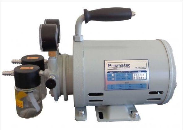 Bomba de Vácuo e Compressor de Ar, 48 Litros/M, 720 mmHg, Potência do Motor 1/4HP, Modelo: 132