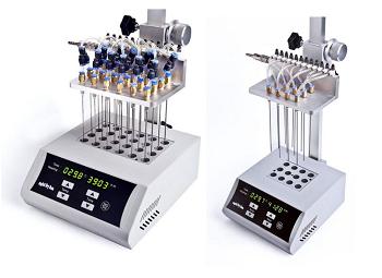 Concentrador de amostras digital para microtubos 0,2/2,0ml até tubos de ø40 mm com controlador de temperatura e válvula reguladora de fluxo. Modelo BIONDK200
