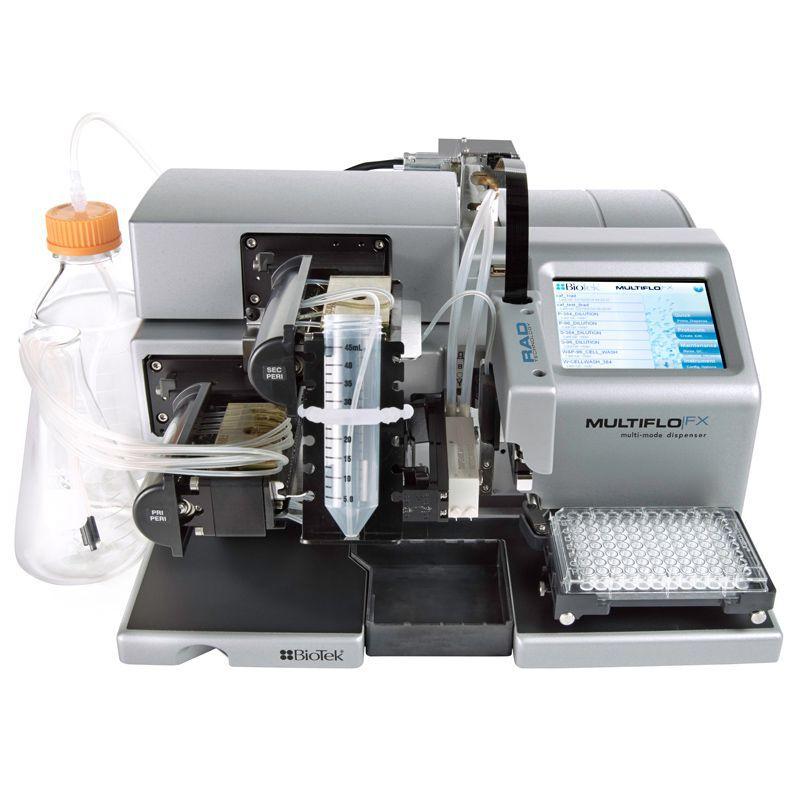 Dispensador para Microplaca 6 A 1536 Poços, Bomba Perist., Volume 500nL A 3000µL, Bivolt.MOD.MULTIFLO-MFXP