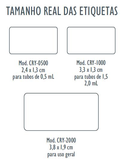 Etiquetas Brancas para Identificação de Caixas / Racks de Armazenamento, Microplacas, Microtubos, Lâminas de microscopia e Tubos Criogênicos.