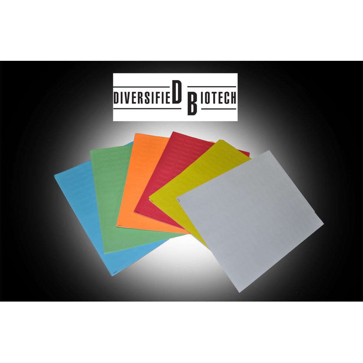 Etiquetas Cores Sortidas para Identificação de Caixas / Racks de Armazenamento, Microplacas, Microtubos, Lâminas de microscopia e Tubos Criogênicos.