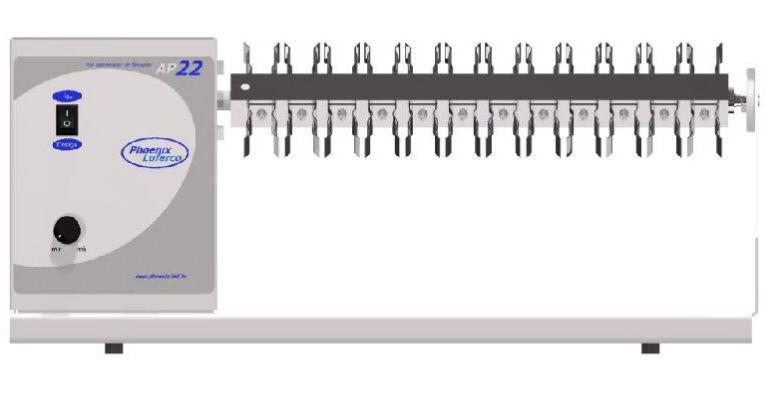Homogeneizador para Tubos Diversos, Velocidade Regulável de 8 a 22Rpm, Para trabalhos com 22, 28 e 32 tubos - Modelo: AP22
