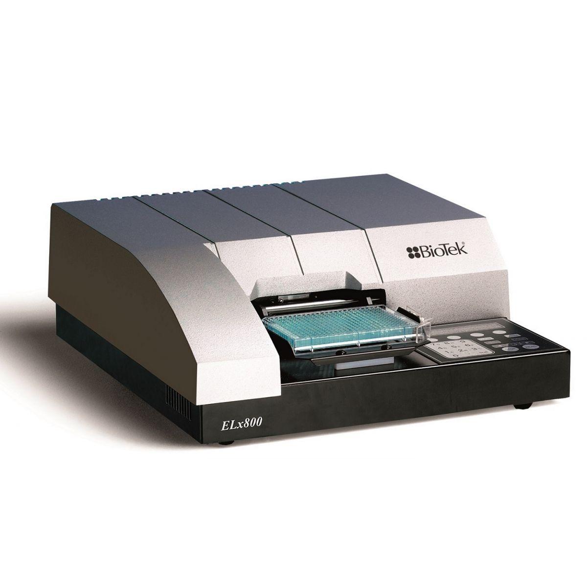 Leitora de absorbância microplacas 6 a 96 poços , faixa UV de 340 nm, com sistema de filtros para seleção de comprimento de onda. Modelo: ELX800UV