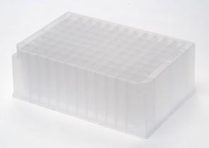 Microplaca 96 poços profundo, retangular, Capacidade 2ML, Estéril, Pacote com 5 unidades – Modelo:  P-2ML-SQ-C-S