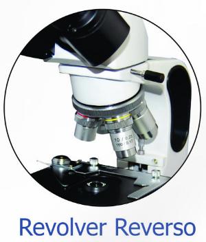 Microscópio Binocular, 40 ate 1600x, Objetivas Acromáticas, Iluminação por LED – Modelo: B10