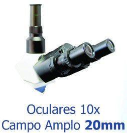 Microscópio Biológico Trinocular 1000x, Objetivas Planacromáticas, Iluminação por Led ? Modelo: B20TP