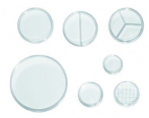 Placa de Petri 90x15 com 1 Divisória (2 Compartimentos), Produto Estéril, Caixa com 90 pacotes – Modelo: 0305-2