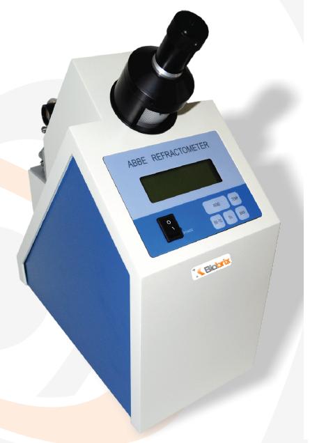 Refratômetro Abbe digital, escala refração 1.3000-1.7000 (±0.005) brix 0-95% com compensação automática de temperatura (atc), saída rs 232c- Modelo: WYA-2S