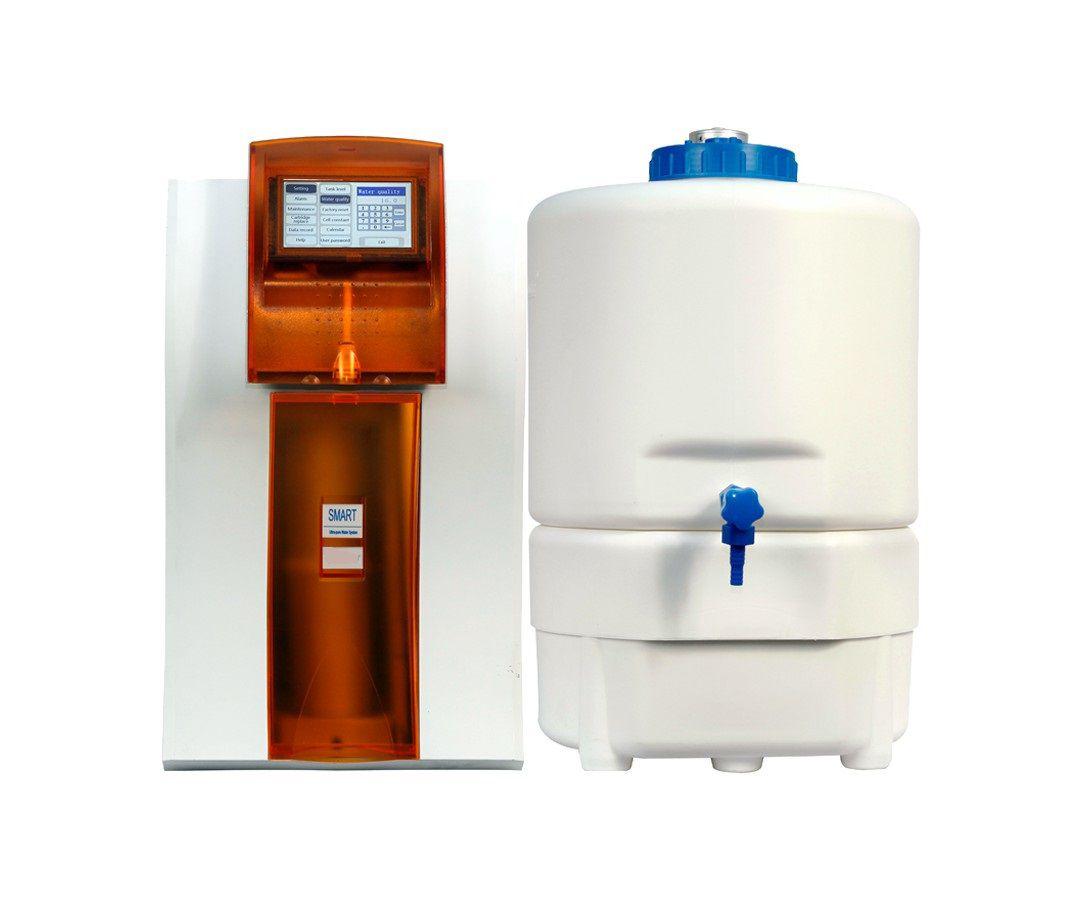 Sistema de Ultrapurificação de água (Tipo I) com eletrodeionização (EDI), para remoção de Nucleases e Endotoxinas, Vazão de 90L/h ? Modelo: DIRECT SMART-Q EDI