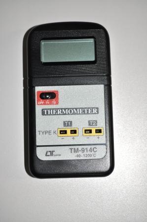 Termômetro Digital Portátil Duplo Canal com faixa de -40ºC a 1200ºC