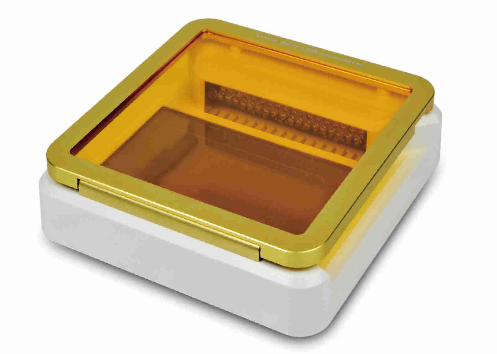 TRANSILUMINADOR (LUZ VISÍVEL) DE LUZ LED AZUL, 10 X 6 CM, 470 NM, PARA DETECÇÃO DE ÁCIDO NUCLEICOS EM GÉIS, 220V