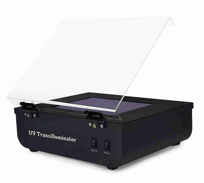 TRANSILUMINADOR (UV TABLE), LUZ ULTRAVIOLETA, 197 x 147 MM, 302 NM, 6 LÂMPADAS DE 8W, 220 VOLTS