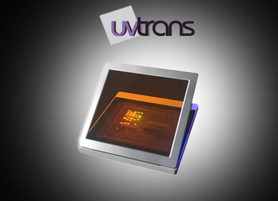 Transiluminador com Lâmpada de LED 470NM, filtro de luz azul, extra fino e portátil, visualização 13 x 17 cm, tampa âmbar - Modelo: UVT-470 LED