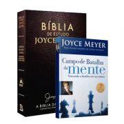 BÍBLIA DE ESTUDOS JOYCE MEYER + Livro Campo de Batalha da Mente