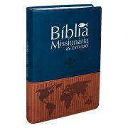 BÍBLIA MISSIONÁRIA DE ESTUDO CP SINT AZUL/MARROM