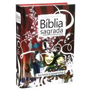 BÍBLIA SAGRADA EDIÇÃO COM NOTAS PARA JOVENS (Red)