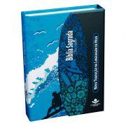 BÍBLIA SAGRADA LETRA MAIOR COM FONTE DE BÊNÇÃOS - Surf CP Dura c/aba e imã