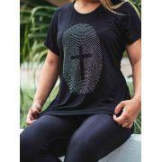 Camiseta Digital de Jesus feminina