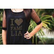 Camiseta feminina Tuli - Eu Amo Família