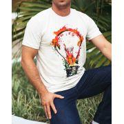 Camiseta masculina - lâmpada