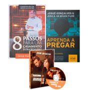 Combo - 8 Passos para um casamento extraordinário + Livro Aprenda a pregar + Dvd Vencendo os inimigos do amor
