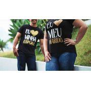 Kit - Camisetas Eu amo meu marido + eu amo minha esposa