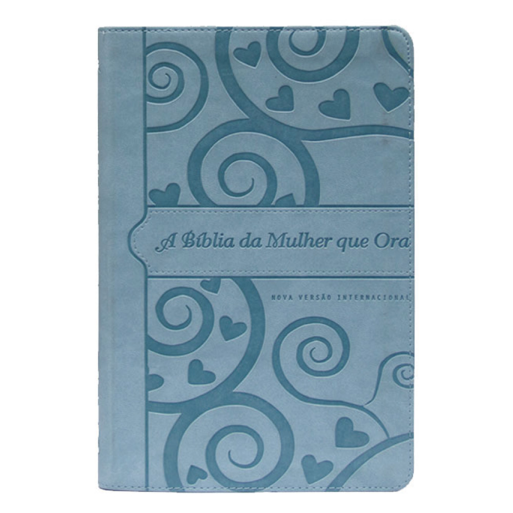 A BÍBLIA DA MULHER QUE ORA NVI - AZUL CORAÇÃO