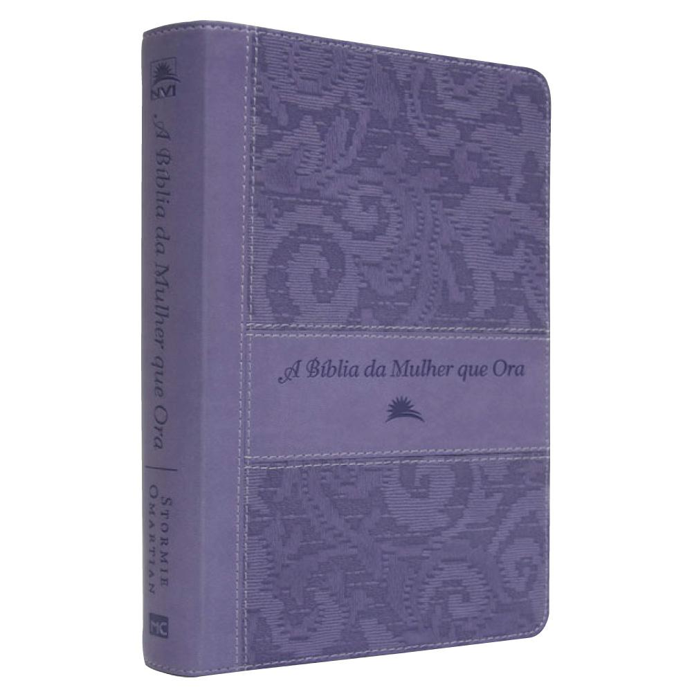 A BÍBLIA DA MULHER QUE ORA NVI - LILAS NOVO FORMA