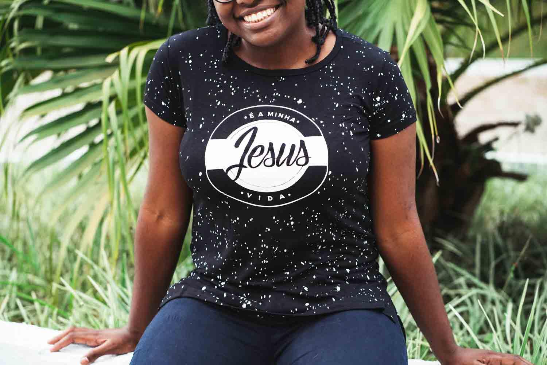 Bata feminina Jesus é a minha vida (POA)