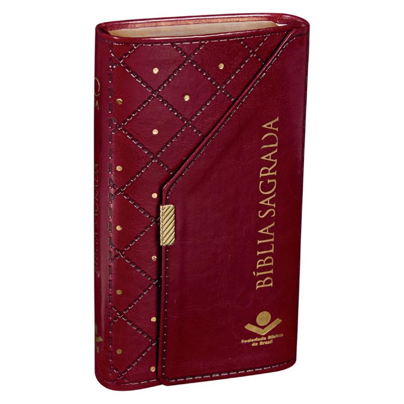 Biblia Carteira Alpha vinho