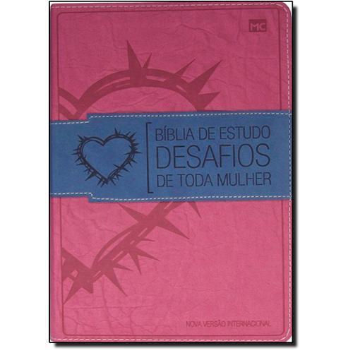 BÍBLIA DE ESTUDO DESAFIOS DE TODA MULHER - CAPA ROSA