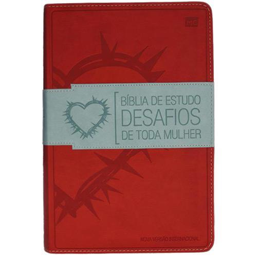 Bíblia de Estudo - Desafios de Toda Mulher - Capa Vermelha