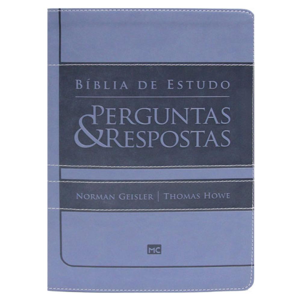 BÍBLIA DE ESTUDOS PERGUNTAS E RESPOSTAS - AZUL