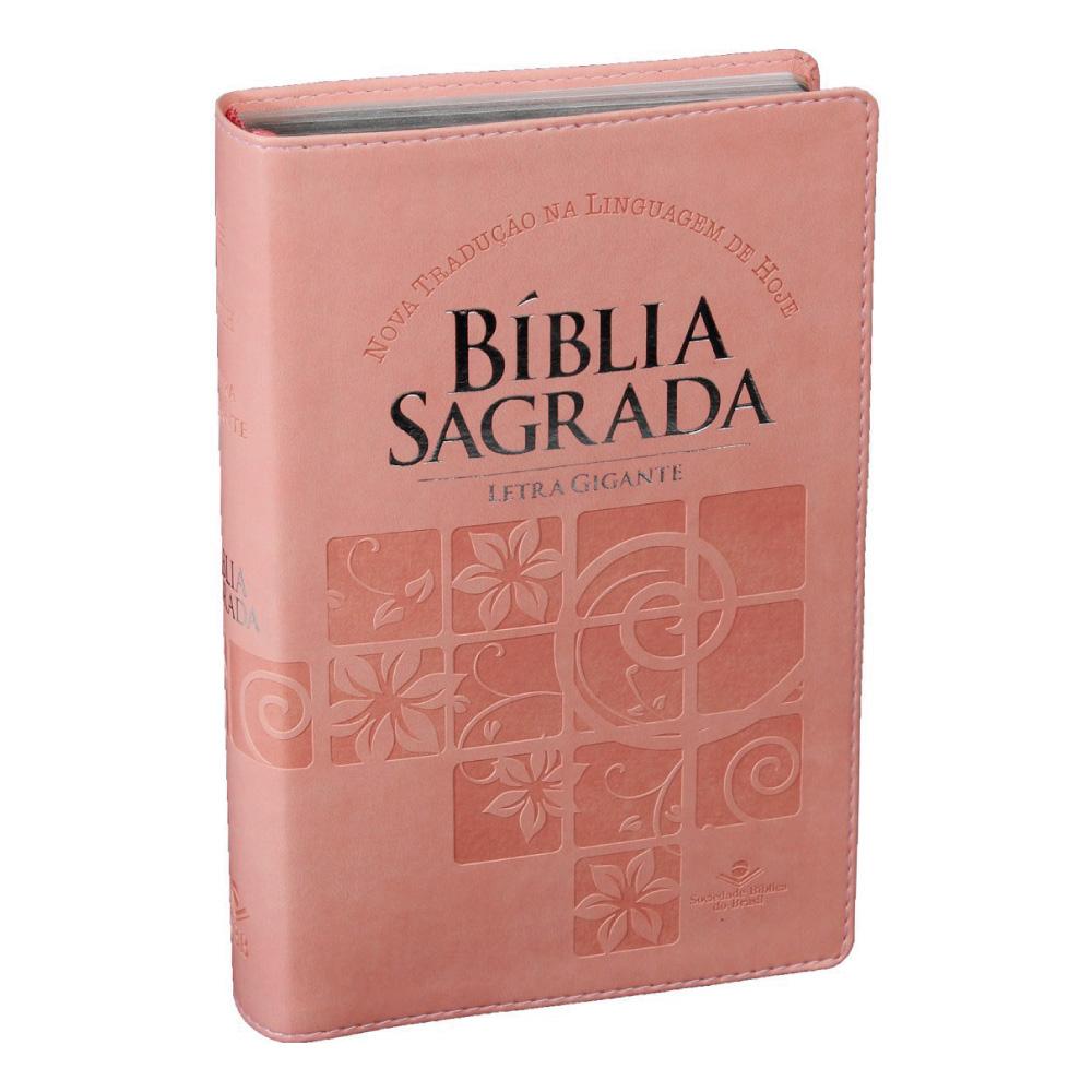 BIBLIA SAGRADA LETRA GIGANTE IND DIG CP SINT ROSA CLARO