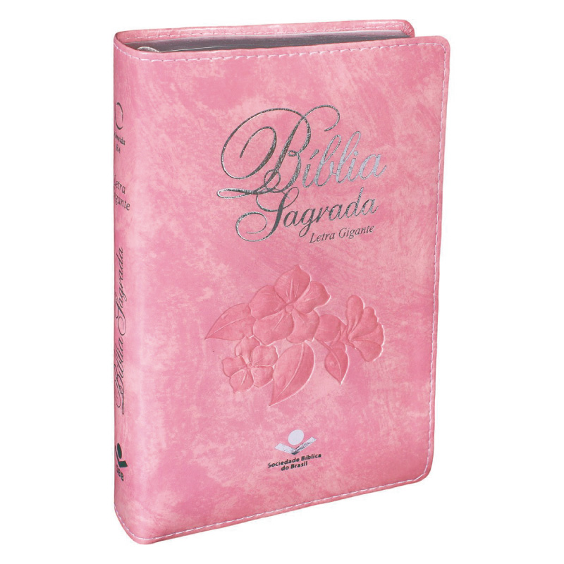 BÍBLIA SAGRADA LETRA GIGANTE IND DIG CP SINT ROSA NOBRE