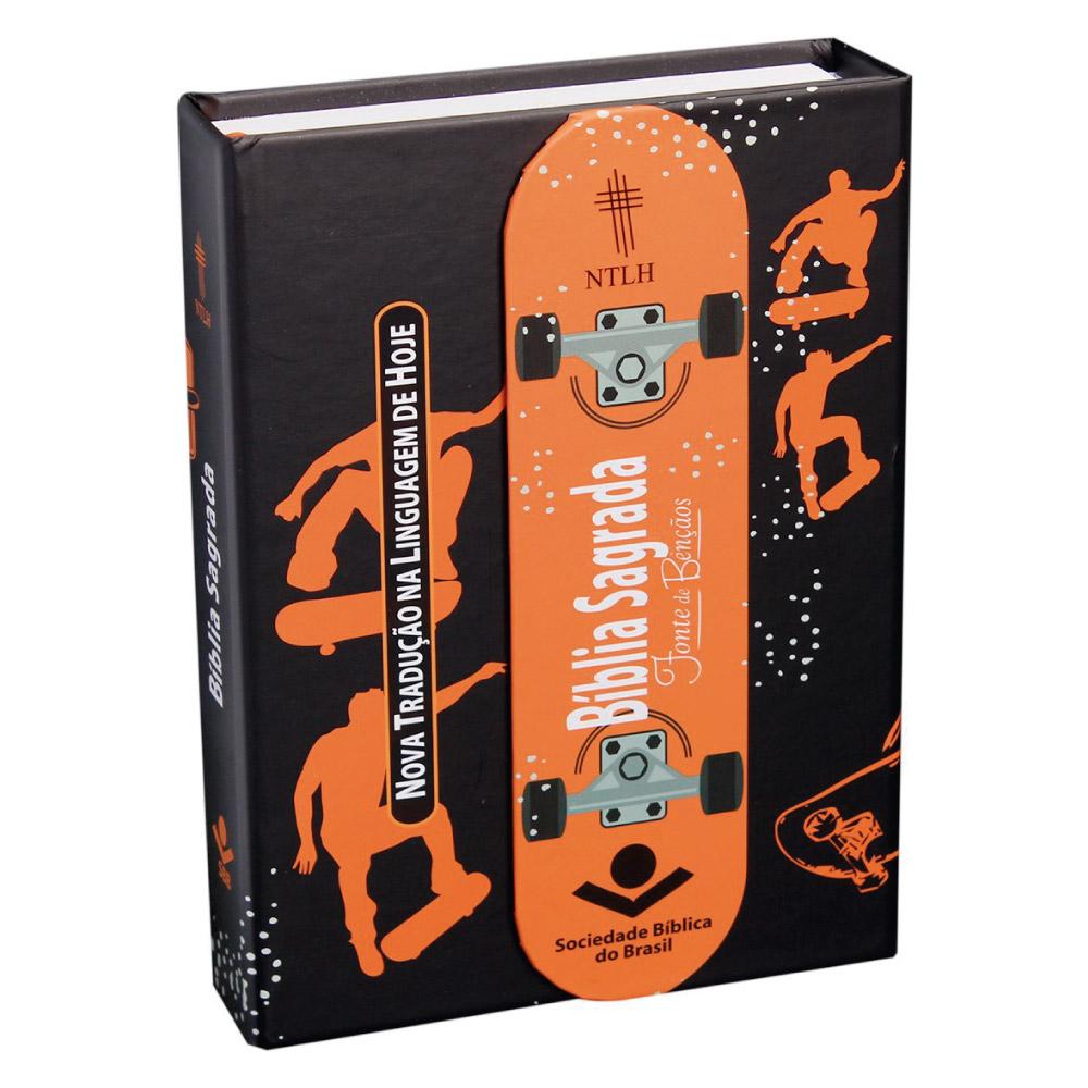 BÍBLIA SAGRADA LETRA MAIOR COM FONTE DE BÊNÇÃOS - Skate CP Dura c/aba e imã