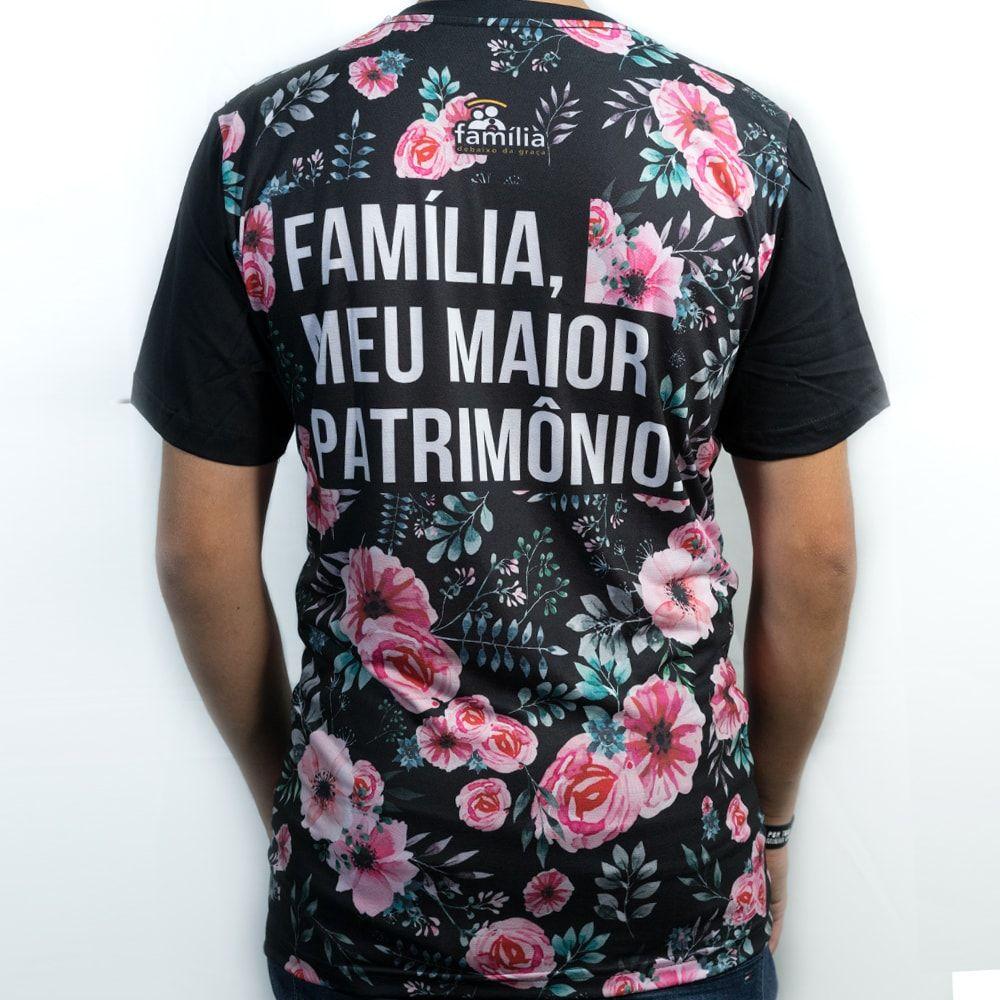 Camiseta Família Floral Masculina
