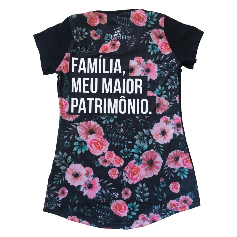 CAMISETA - FAMILIA FLORAL FEMININA