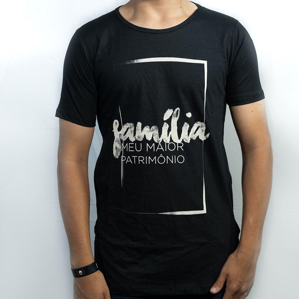 Camiseta Família Moldura Masculina